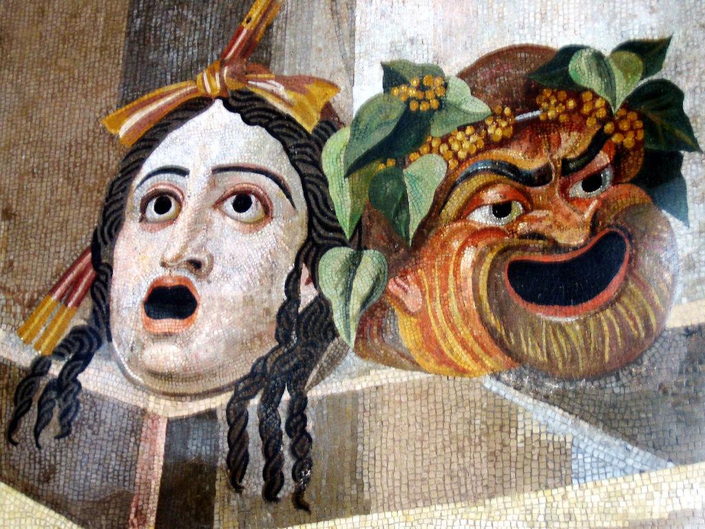 Roman mosaic, 2nd century CE, Palazzo Nuovo (Wikimedia Commons)