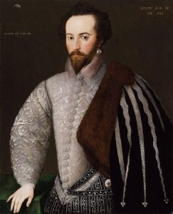 Portrait of Sir Walter Raleigh, 1588 (via Wikimedia Commons)